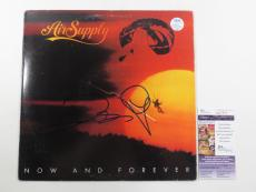 G. Russell & R. Hitchcock Signed Album Air Supply Now and Forever w/ 2 JSA AUTOS