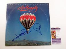G. Russell & R. Hitchcock Signed Album Air Supply One That You Love 2 JSA AUTO