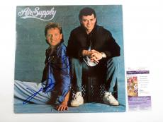 G. Russell & R. Hitchcock Signed Album Air Supply Self-Titled w/ 2 JSA AUTOS