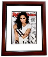 Gal Gadot Signed - Autographed Wonder Woman Actress 8x10 inch Photo MAHOGANY CUSTOM FRAME - Guaranteed to pass PSA or JSA