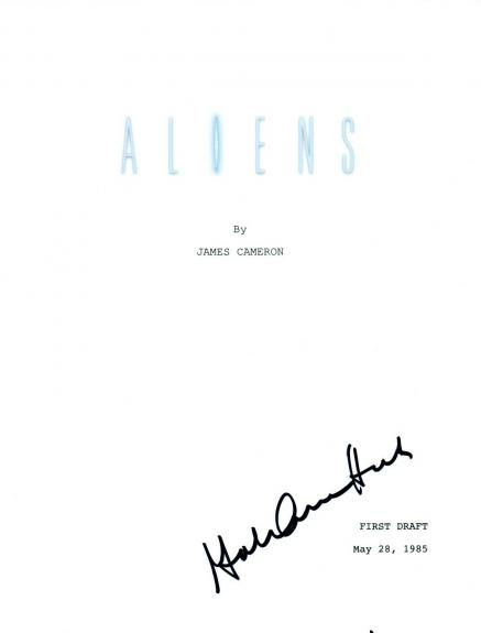 Gale Ann Hurd Signed Autographed ALIENS Movie Script Film Producer COA