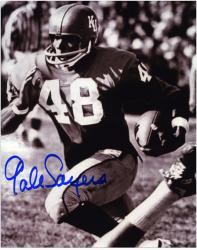 Gale Sayers Kansas Jayhawks Autographed 8'' x 10'' B&W Photograph - Mounted Memories