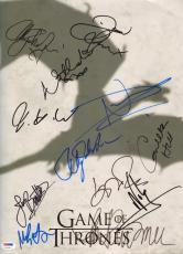 Game of Thrones 12x Cast Signed 12x16 Photo PSA/DNA LOA w/ Nikolaj Coster-Waldau