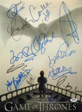 Game of Thrones 13x Cast Signed 12x16 Photo PSA/DNA LOA w/ Nikolaj Coster-Waldau