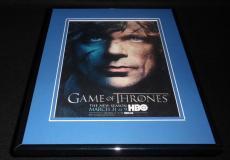 Game of Thrones 2013 Framed 11x14 ORIGINAL Advertisement Peter Dinklage