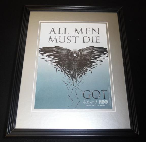Game of Thrones 2014 Framed 11x14 ORIGINAL Advertisement HBO