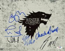 Game Of Thrones Cast (6) David Benioff Signed 11X14 Photo PSA #V09647