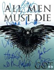 Game of Thrones Cast Autographed Signed 11x14 Photo Certified Authentic BAS COA