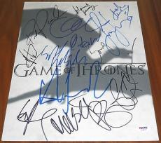 Game of Thrones Cast Signed 11x14 By 15 Clarke Dinklage Christie Headey PSA LOA