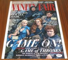 Game of Thrones Cast Signed 11x14 By 5 Clarke Dinklage Harington Headey PSA LOA
