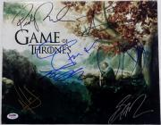 Game Of Thrones Cast Signed 11x14 Photo George R.R. Martin Rory McCann PSA LOA