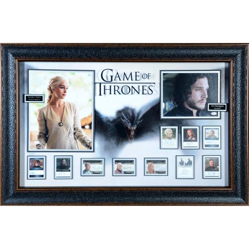 """Game of Thrones Framed Autographed 30"""" x 44"""" Collage with Multiple Signatures - JSA"""