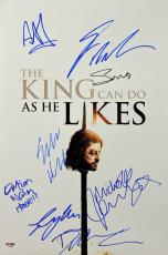 Game of Thrones (George R.R. Martin, Sophie Turner, +6) Signed 12x18 PSA AB10805