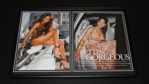 Garcelle Beauvais Signed Framed 12x18 Photo Set NYPD Blue