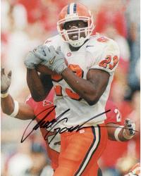 Fanatics Authentic Autographed Rod Gardner Clemson Tigers 8'' x 10'' Tackled White Jersey Photograph