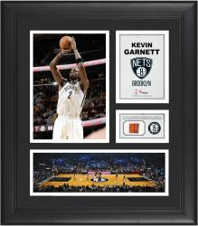 "Kevin Garnett Brooklyn Nets Framed 15"" x 17"" Collage with Team-Used Ball"