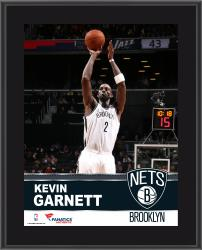 Kevin Garnett Brooklyn Nets Sublimated 10.5'' x 13'' Plaque - Mounted Memories