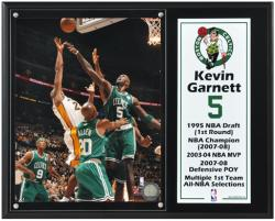 GARNETT, KEVIN PLAQUE (8x10 PHOTO w/ SUBL PLATE) (12x15 BOAR