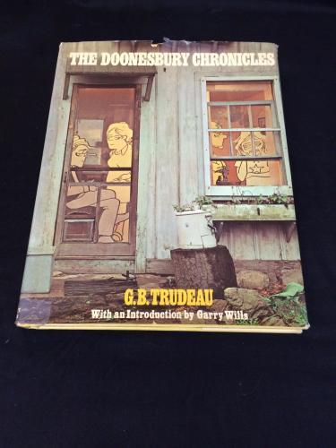 Garry GB Trudeau Doonesbury Chronicles Cartoonist Signed Autograph 1st Ed Book