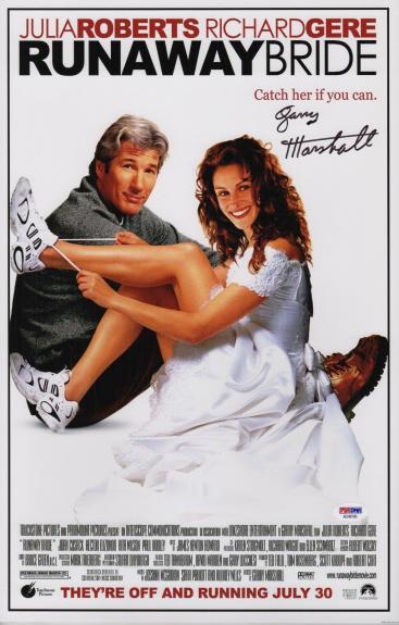 Garry Marshall Signed Runaway Bride 11x17 Movie Poster Psa Coa Ad48106