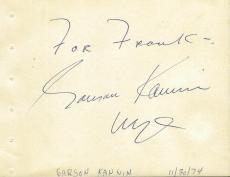 Garson Kanin Signed Vintage Album Page