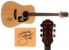 Garth Brooks Autographed Acoustic Guitar with God Bless Inscription - JSA LOA