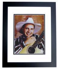Garth Brooks Autographed Concert 8x10 Photo BLACK CUSTOM FRAME