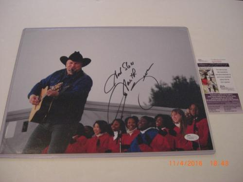 Garth Brooks Country,friends In Low Places Jsa/coa Signed 11x14 Photo