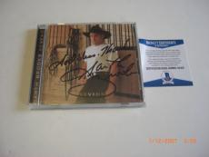 Garth Brooks Famous Country Singer Sevens God Bless Beckett/coa Signed Cd