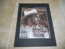 Garth Brooks Rolling Stone Signed Autographed 12x16 Photo Display PSA Guaranteed
