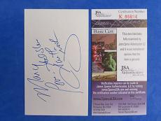 GARTH BROOKS SIGNED 3x5 INDEX CARD ~ JSA K86604 ~ COUNTRY MUSIC LEGEND AUTOGRAPH