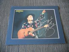 Garth Brooks Signed Autographed 10x13 Photo Display PSA Guaranteed