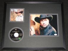 Garth Brooks Signed Framed 16x20 Photo & CD Display JSA
