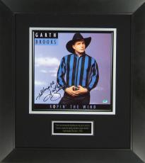 Garth Brooks Signed Ropin The Wind Album Flat Framed