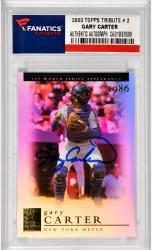 Gary Carter New York Mets Autographed 2003 Topps Tribute #2 Card