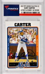 Gary Carter New York Mets Autographed 2005 Topps Shoebox Collection #22 Card