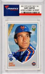 Gary Carter New York Mets Autographed 2005 Topps Super Team #144 Card