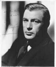 Signed Gary Cooper Photo - Career Spanned thirty six Years he had Eighty Four Leading Roles in Featured Films Passed Away 1961 Crease in top right Corner 8x10 B W