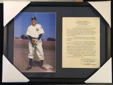 Gary Cooper Document Signed Autographed Psa/dna Pride Of The Yankees Lou Gehrig