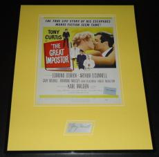 Gary Merrill Signed Framed 16x20 Photo Poster Display The Great Impostor