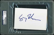 "Gary Oldman Signed 4""x6"" Card Dark Knight Psa/dna Encapsulated 83453102"