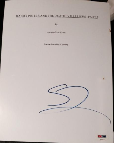 Gary Oldman Signed Autograph Harry Potter Deathly Hallows Part 2 Script Psa/dna