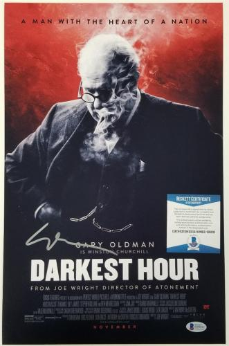 GARY OLDMAN Signed DARKEST HOUR 11x17 Photo 2018 Best Actor (B)~ Beckett BAS COA