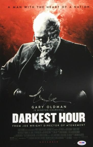 Gary Oldman Signed 'Darkest Hour' 11x17 Photo PSA AE86758