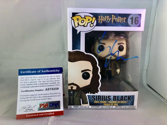 Gary Oldman Signed Official Sirius Black Funko Pop Harry Potter PSA DNA CERT