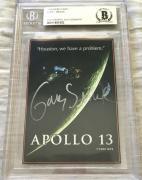 Gary Sinise autographed signed Apollo 13 movie 1995 promo card BAS Beckett slab
