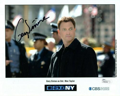 GARY SINISE HAND SIGNED 8x10 COLOR PHOTO        BEST CSI:NY POSE         JSA