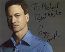 GARY SINISE HAND SIGNED 8x10 COLOR PHOTO+COA      AWESOME POSE        TO MICHAEL
