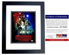 Gaten Matarazzo Signed - Autographed Stranger Things 11x14 inch Photo BLACK CUSTOM FRAME - PSA/DNA Certificate of Authenticity (COA)