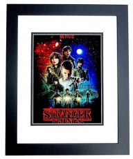 Gaten Matarazzo Signed - Autographed Stranger Things - Dustin 11x14 inch Photo BLACK CUSTOM FRAME - Guaranteed to pass PSA or JSA